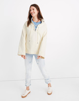Madewell Lace-Up Sweatshirt