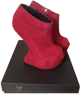 Giuseppe Zanotti Burgundy Leather Ankle boots