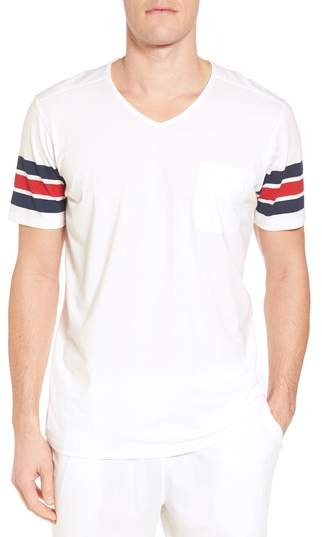 Daniel Buchler V-Neck Stretch Cotton Blend T-Shirt