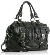 black leather 'Truffaut' satchel