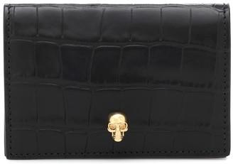 Alexander McQueen Croc-effect leather wallet