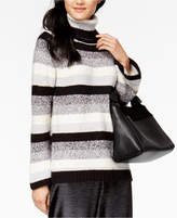 Kensie Striped Turtleneck Sweater
