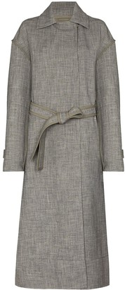 Jil Sander Belted-Waist Long Trench Coat