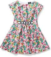 Armani Junior Girls Print Dress With Diamonte Detail
