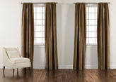 "Ethan Allen 100"" Bronze Satin Dupioni Rod-Pocket Panel"