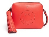 Anya Hindmarch 'Smiley' perforated leather crossbody bag