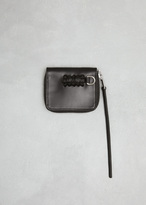Rick Owens Black Braided Zipped Credit Card Holder