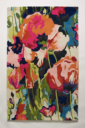Anthropologie Brilliant Poppies Rug By in Assorted Size 3 X 5