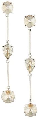 Oscar de la Renta Swarovski Crystal Triple-Drop Earrings