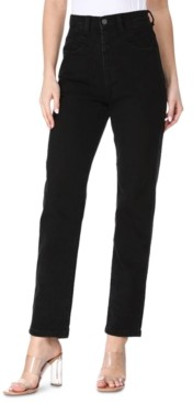 KENDALL + KYLIE Juniors' High Rise Straight-Leg Jeans