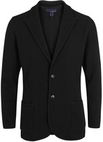 Lardini Black Knitted Cotton Jacket