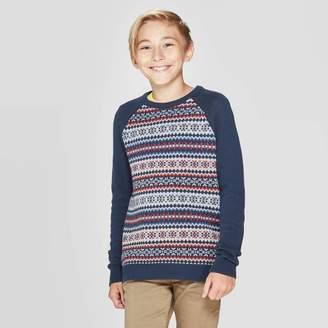 Cat & Jack Boys' Long Sleeve Pullover Sweater Navy