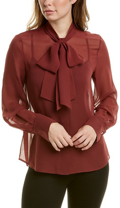 Lafayette 148 New York Lisanna Silk Blouse
