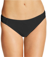 California Waves Ruched Side-Tab Bikini Bottoms
