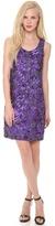 Vera Wang Collection Sleeveless Floral Sequin Dress