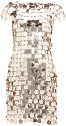 Paco Rabanne Sequinned Mini Dress - Womens - Rose Gold