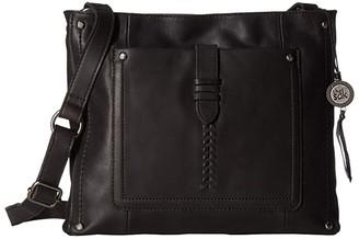 The Sak Heritage Leather Crossbody (Black) Cross Body Handbags