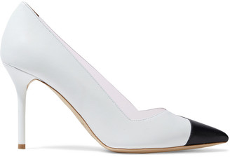 Malone Souliers Bly 85 Color-block Textured-leather And Pvc Pumps