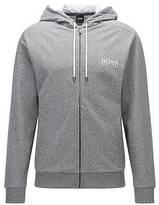 Hugo Boss Regular-fit hooded loungewear jacket in French terry