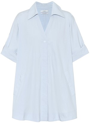 Co Cotton-blend poplin shirt