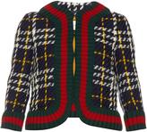 Gucci Collarless tweed jacket