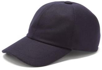 Brunello Cucinelli Curved-brim Wool-flannel Cap - Dark Blue