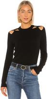 Autumn Cashmere Twist Shoulder Crew Sweater