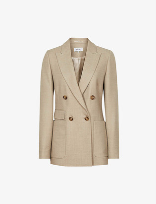 Reiss Larsson double-breasted wool-blend blazer