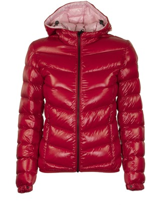 Colmar Ultra-glossy Hooded Bomber Jacket Red