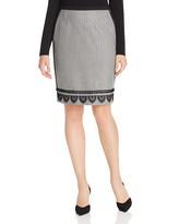 Max Mara Domizia Twill Herringbone Pencil Skirt