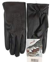 Winter in Town Men's Fur Lined Faux Leather Gloves with Touchscreen Technology