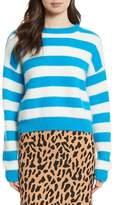 Diane von Furstenberg Stripe Baseball Sweater