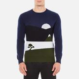 MAISON KITSUNÉ Men's Landscape Jumper Blue