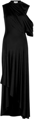 Monse Black asymmetric stretch-jersey gown