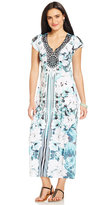 Style&Co. Style & Co. Petite Flutter-Sleeve Printed Maxi Dress, Only at Macy's