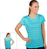 Jockey Women's Sport Mesh Stripe Crewneck Workout Tee