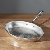 Crate & Barrel All-Clad ® D3 Armor Oval Fish Pan