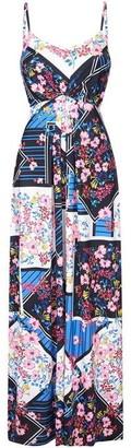 Yumi Floral Scarf Print Maxi Dress
