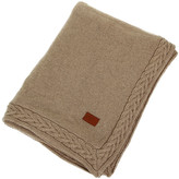 Gant Wool Cable Knit Throw - Seawood - 150x200cm