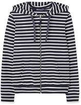 Petit Bateau Men's striped hooded sweatshirt