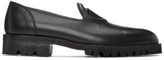 Telfar Black Logo Loafers