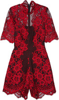 Alexis Heidi corded lace playsuit