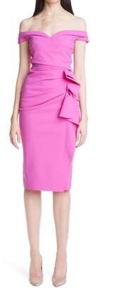 Chiara Boni Radoslava Off the Shoulder Cocktail Dress