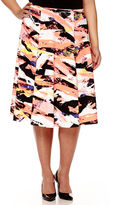BELLE + SKY Print Skirt - Plus
