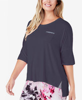 Ellen Tracy Plus Size High-Low Knit Pajama Top
