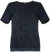 Erika Cavallini - fringed hem T-shirt - women - Polyamide/Polyester/Acetate/Wool - 42