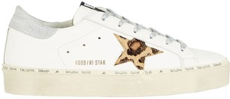 Golden Goose Superstar Lurex-Trimmed Low-Top Sneakers