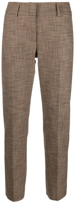 Piazza Sempione Check-Pattern Cropped Trousers