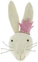 Fiona Walker England Rabbit Head Wool Felt Wall Mount, White