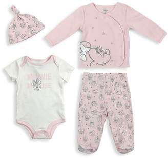 Disney Baby Girl's 4-Piece Cotton Take Me Home Set